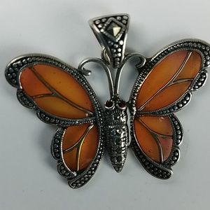Jewelry - Sterling Marcasite Pendant